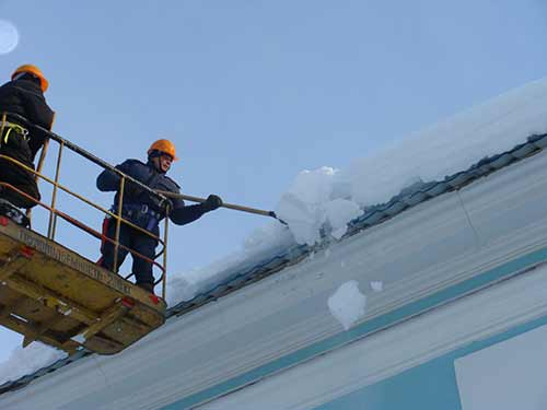 Order Cleaning of roofs of snow and icicles
