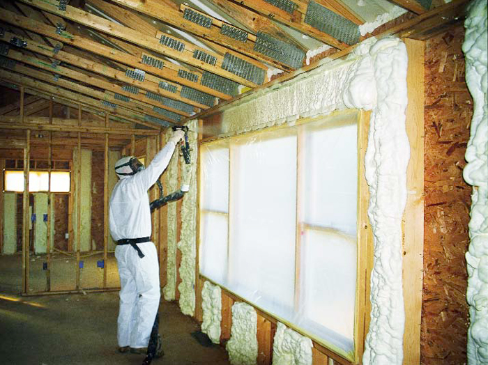 Order Warming by polyurethane foam of houses, buildings and constructions