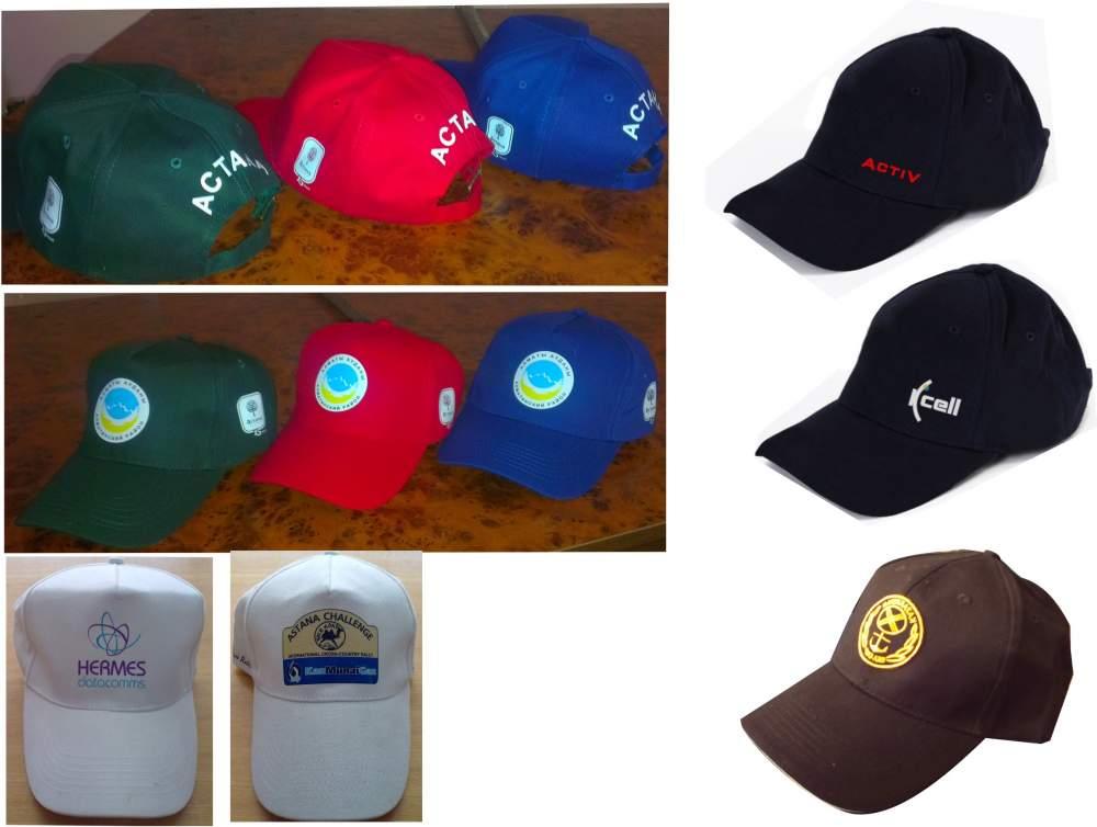 Печать на бейсболках в Алматы, Нанесение логотипа на бейсболки и кепки, Печать на козырьках, Флекс нанесение логотипа, Вышевка на бейсболках