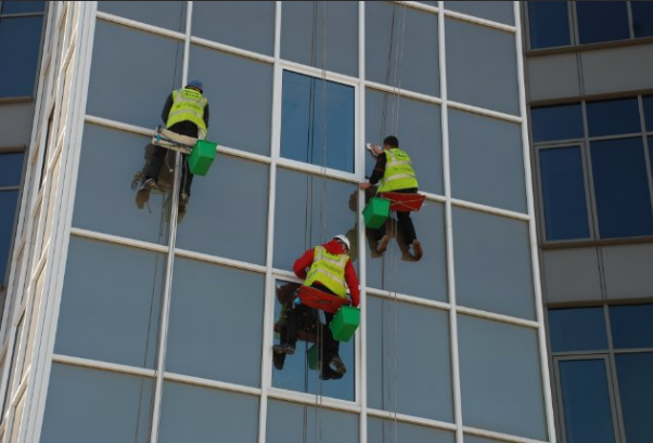 Order High-rise works washing of windows and facades