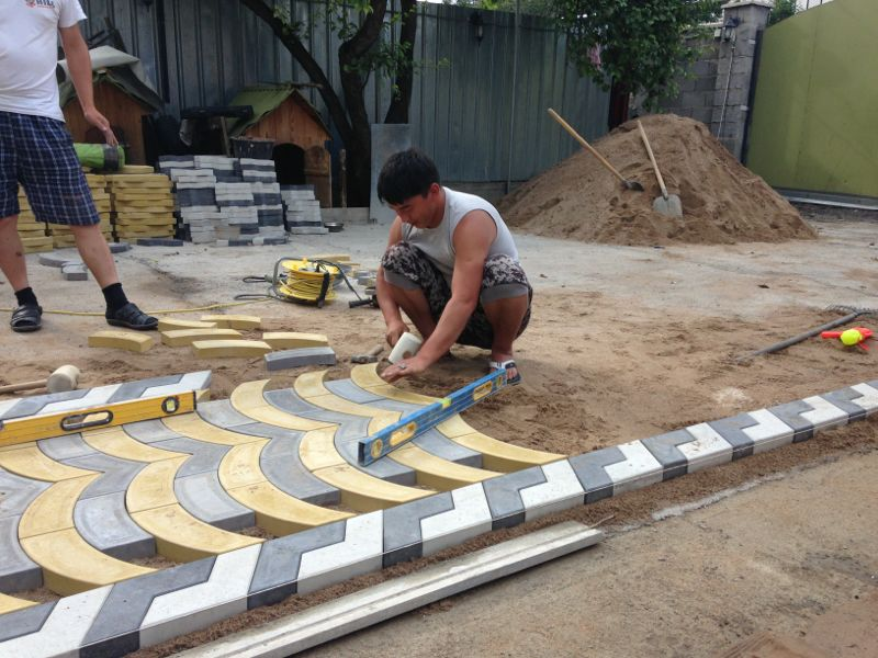 Order Laying of a stone blocks