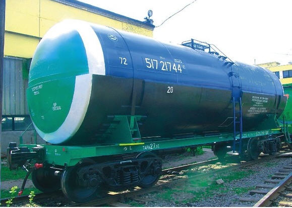 Order Transportation of the liquefied gas by railway tanks