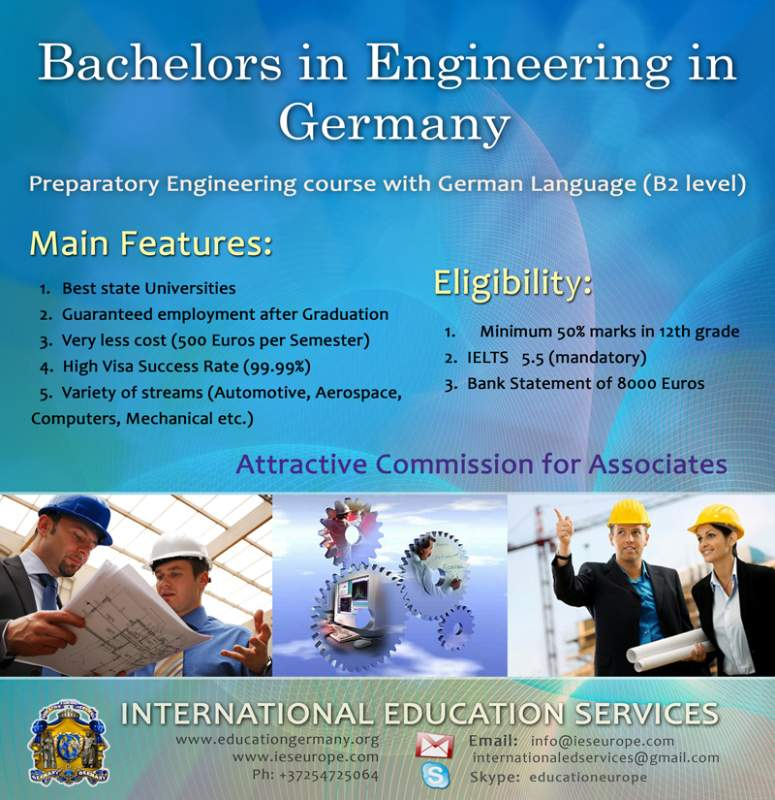 Order ENGINEERING PROGRAM IN GERMANY / Training in Engineering in Germany