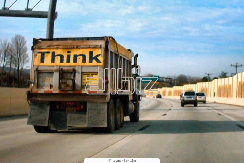 Order Transportations by dump trucks