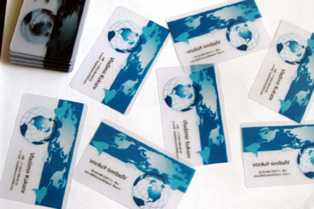 Заказать Пластиковые визитки, дисконтные карты