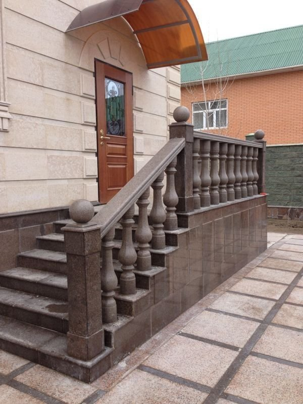 Order We produce and establish rail-posts from marble and granite