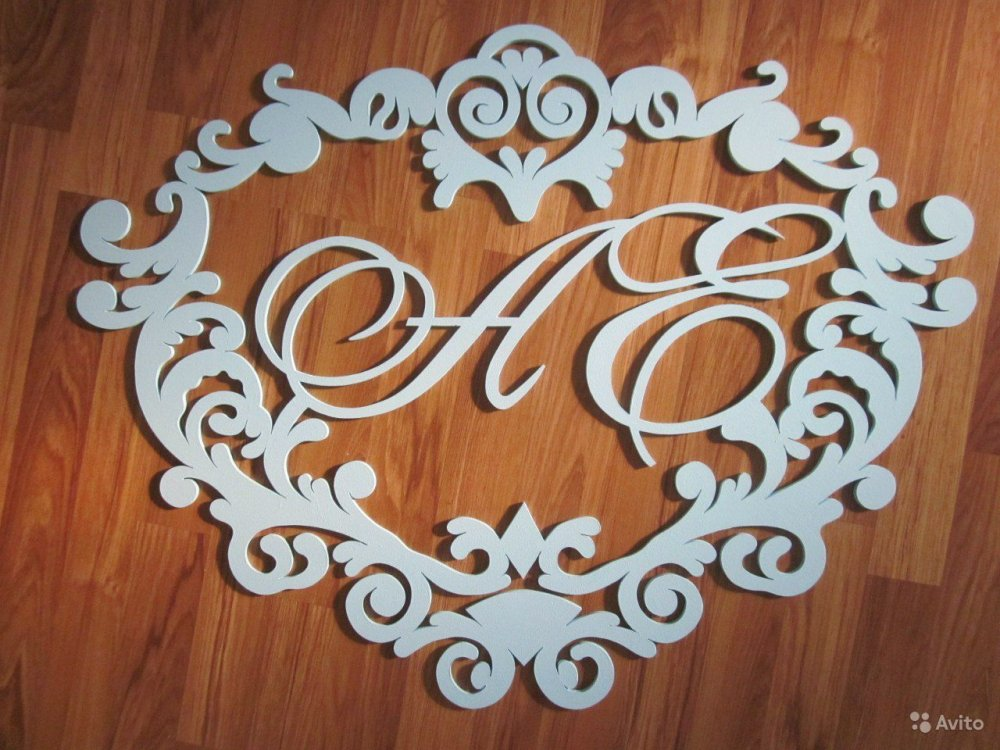 Как сделать на свадьбу буквы