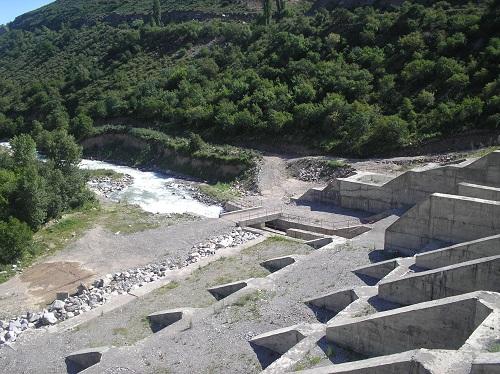 Строительство селезадерживающих платин на реке Талгар
