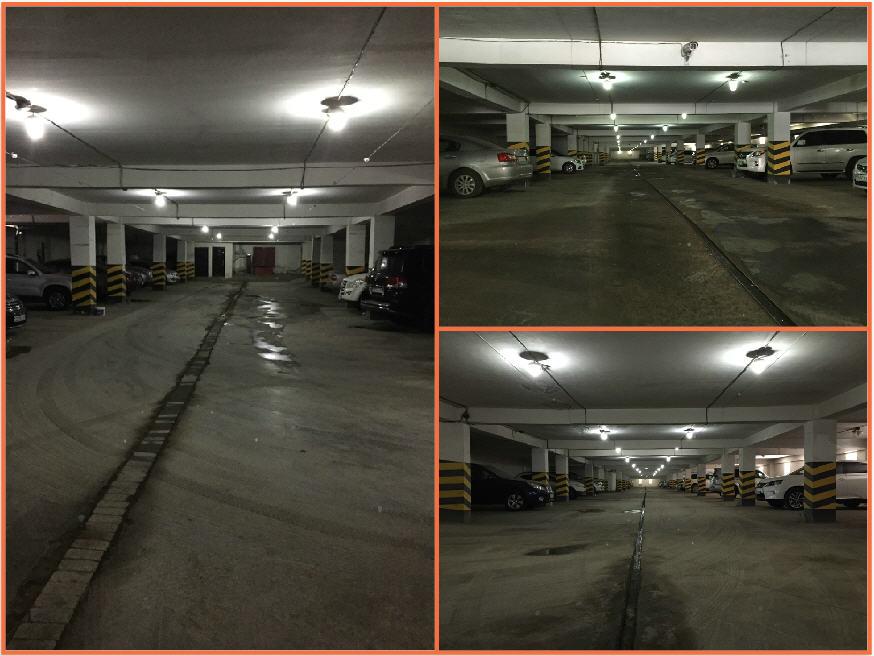 Установка осветительных приборов в паркинге ЖК Шапагат Нуры