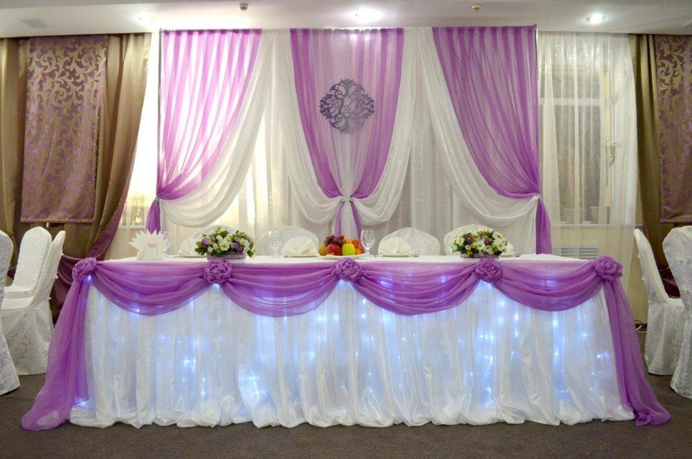 Заказать Свадебное оформление стола молодых, банкетных залов