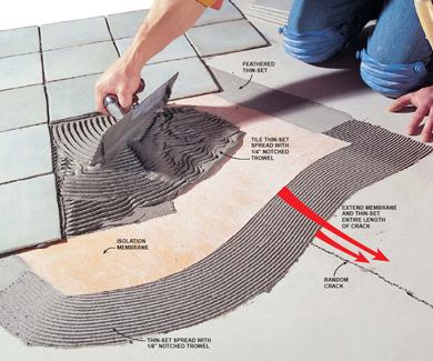 Заказать Укладка керамической плитки на пол под 45°
