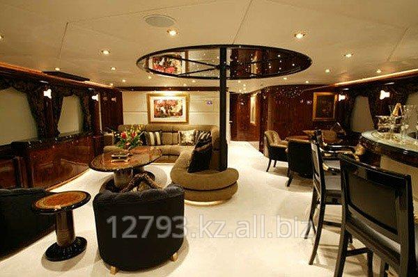 Разработка дизайна интерьера для  частных Яхт, Катеров.