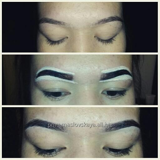 Correction and coloring of eyebrows and eyelashes order in Almaty