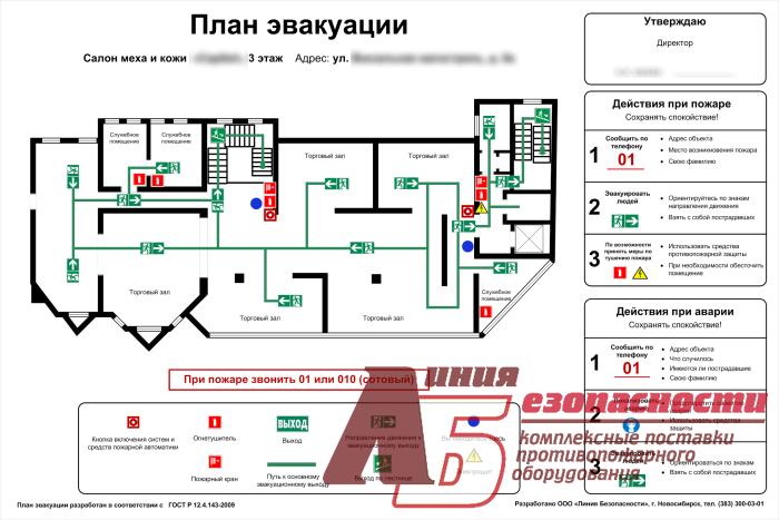 Order Development of the plan of evacuation, digital forma