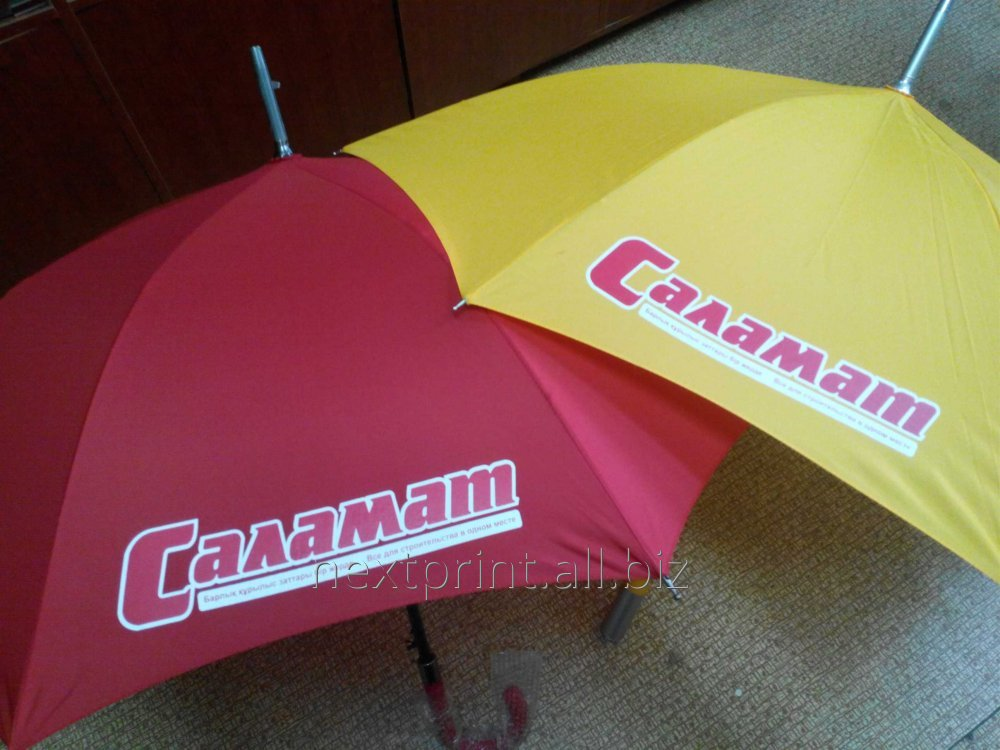 Печать на зонтах, нанесение логотипа