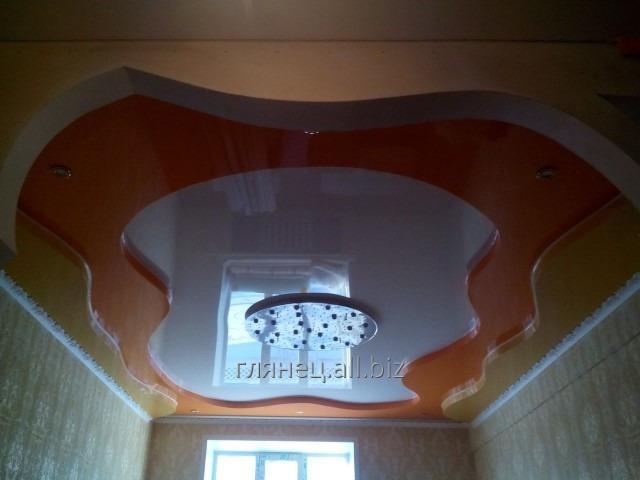 Заказать Установка и дизайн натяжных потолков многоуровневых модель 10
