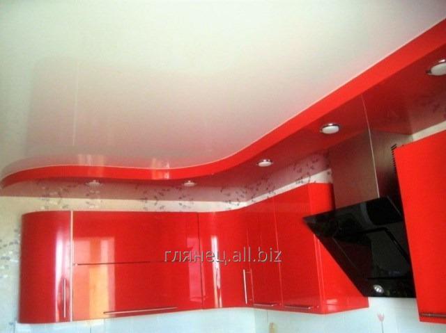 Заказать Установка и дизайн натяжных потолков многоуровневых модель 12