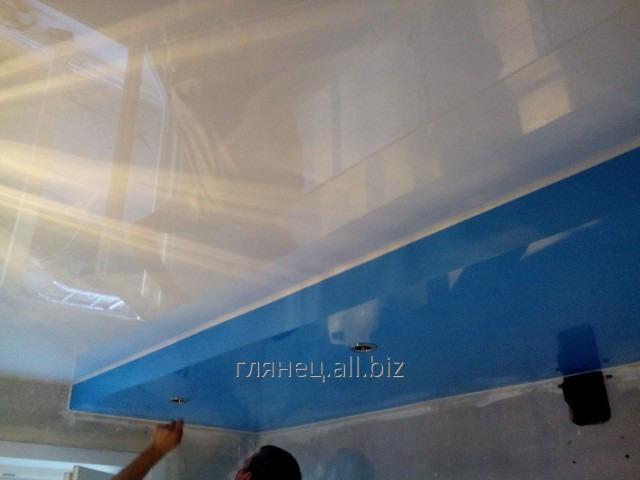 Заказать Установка и дизайн натяжных потолков многоуровневых модель 13