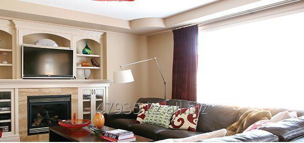 Заказать Фотопечать на потолке в гостиной