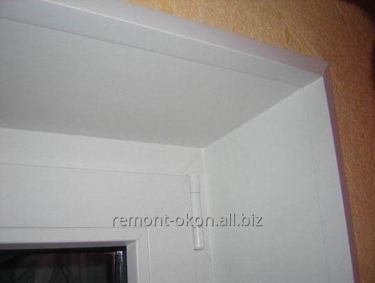 Заказать Установка пластиковых откосов на окна и двери