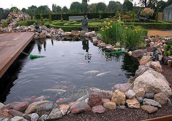 Заказать Устройство искусственных водоемов, водопадов, ручьёв, гротов. Благоустройство береговой линии природных водоемов.