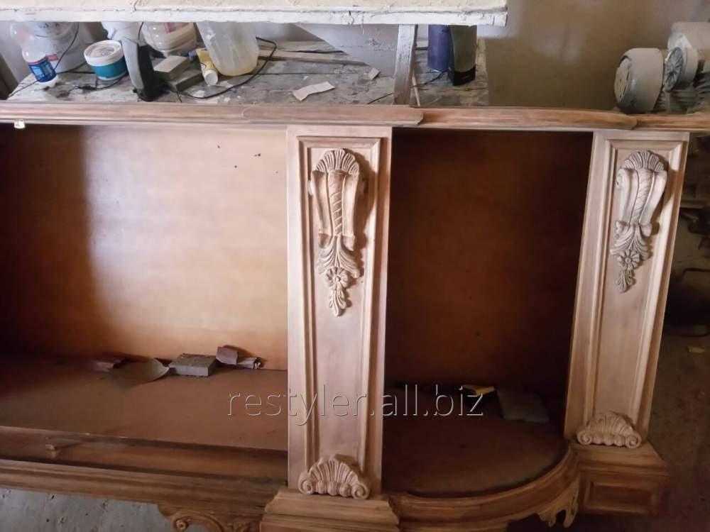 Реставрация элементов декоративной мебели