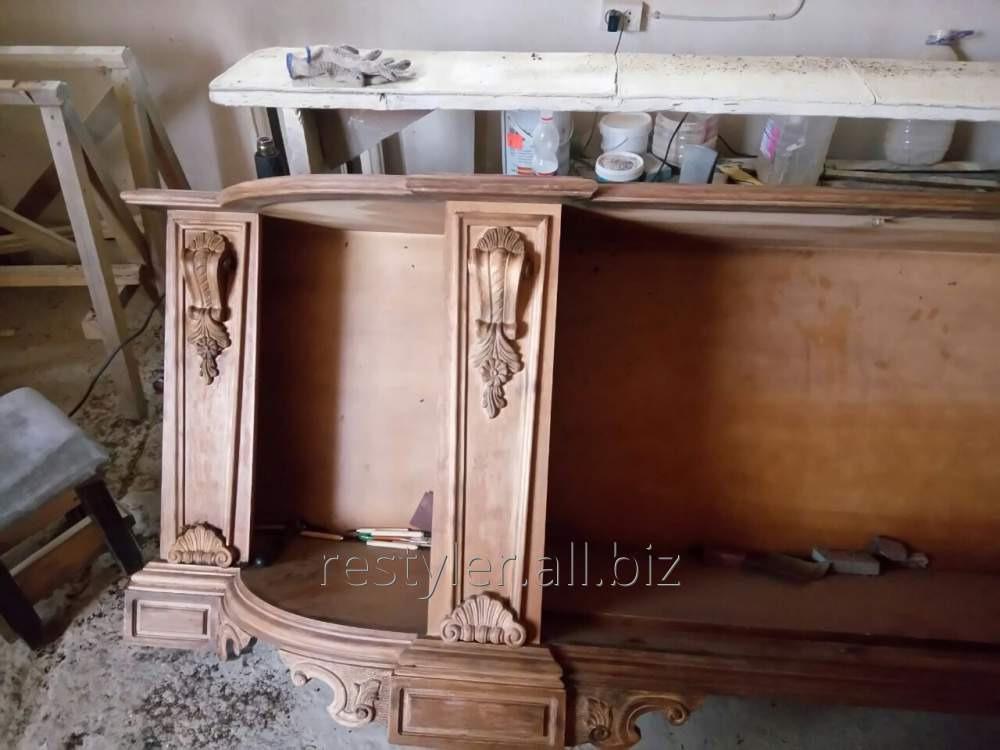 Реставрация элементов деревянной антикварной мебели
