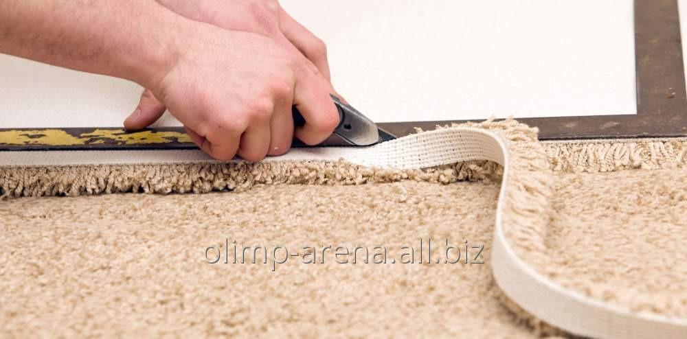 Настил коврового покрытия