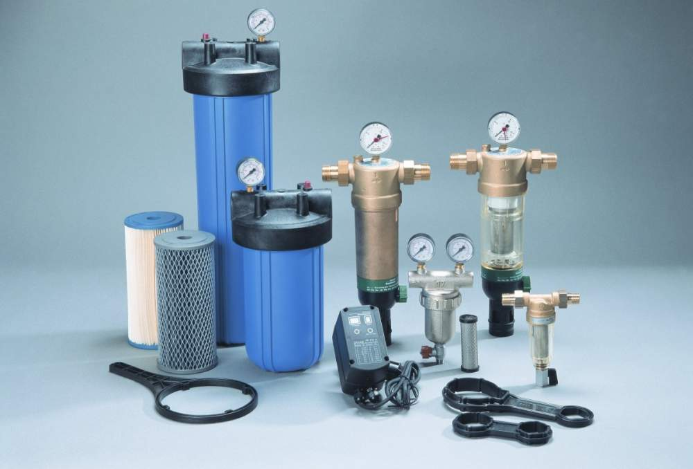 Order Installing the coarse water filter