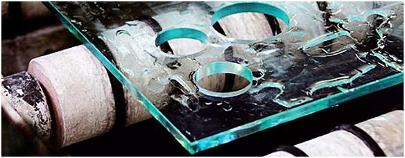 Заказать Сверление отверстий в стекле