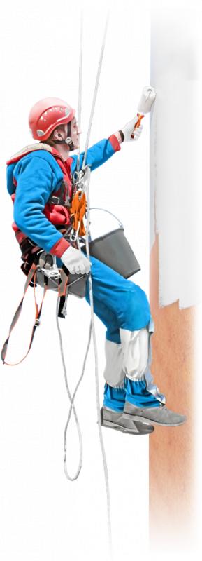 Заказать Высотные работы по подготовке поверхностей под покраску