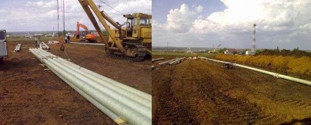 Строительно-монтажные работы нефтегазопровода