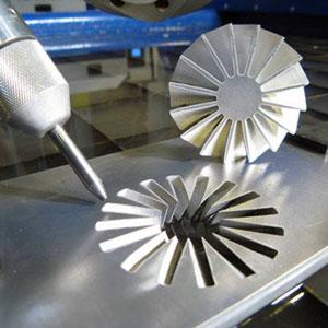 Заказать Гидроабразивная обработка металлического изделия