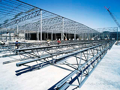 Installation of steel building structures