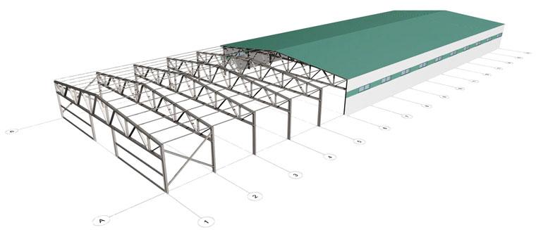 Проектирование металлоконструкции ангара