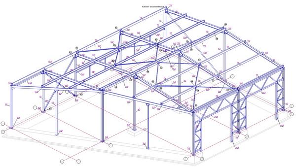 Проектирование металлоконструкции для строительства здания