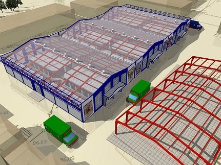 Construction of the markets and pavilions of wholesale / retail trade