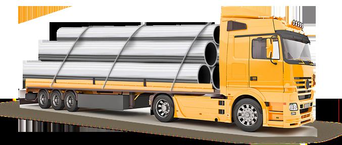 Заказать Доставка металлопроката автотранспортом