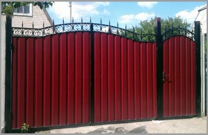 Заказать Ворота обшитые профлистом в Актау