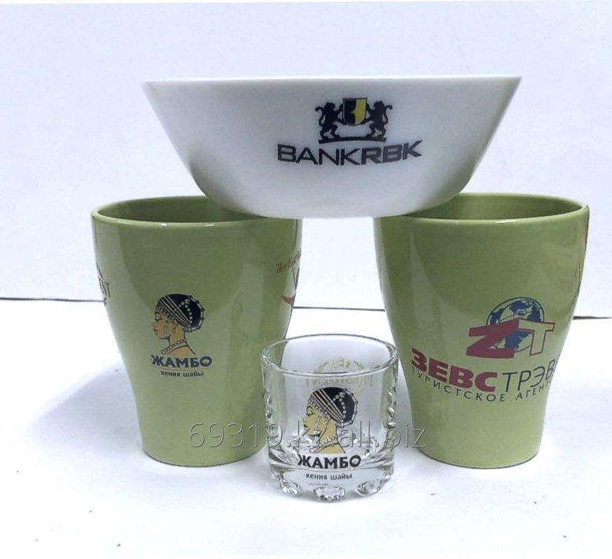 Заказать Нанесение логотипа на посуду (стекло и керамика).