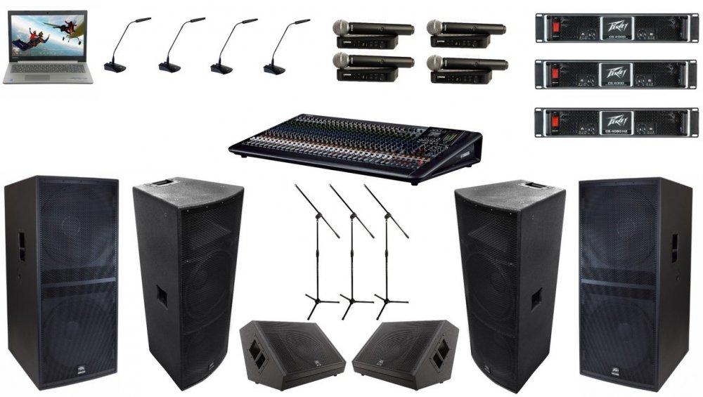 Заказать Аренда оборудования конференц-системы и звукового усиления для пресс-конференции и презентаций