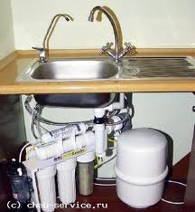 Order Connection of filters of water purification