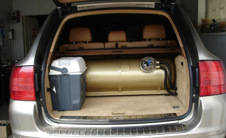 Order Installation of the gas equipment on cars