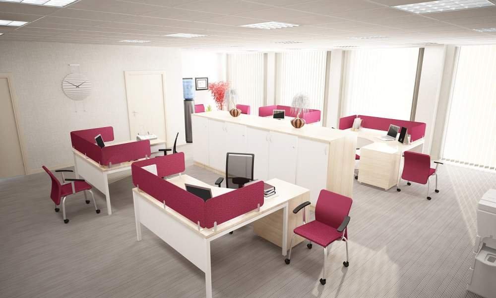 3D визуализация офисного интерьера, выполнение визуализации дизайна интерьеров помещений