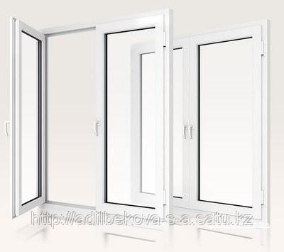 Order Production - WINDOWS, DOORS of PVC (Turkey) to Almaty, Windows metalplastic in Almaty. STEKL installation