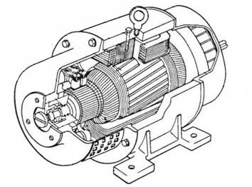 Схема двигатель постоянного тока.
