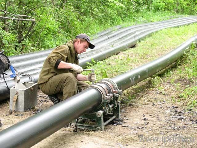 Заказать Сварка и монтаж полиэтиленовых труб
