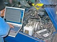 Order Computer diagnostics of the engine
