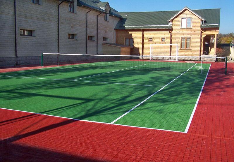Укладка спортивных покрытий для теннисных кортов в Казахстане