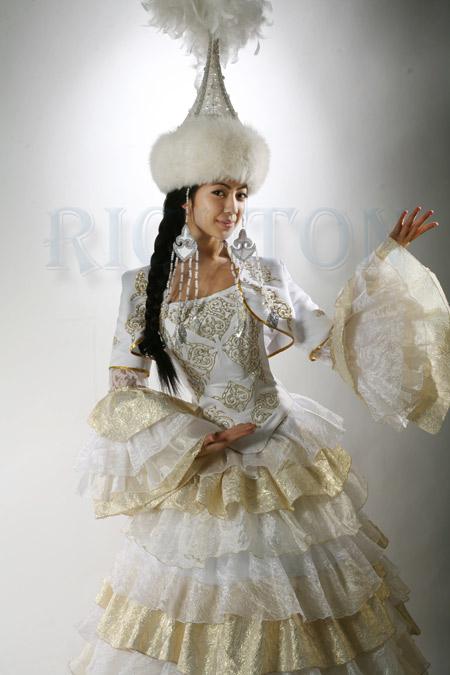 Национальные казахское свадебное платье